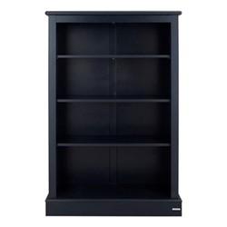 Milne Bookcase, H135 x W89 x D30cm, prussian blue
