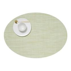 Mini Basketweave Set of 4 oval placemats, 36 x 49cm, matcha