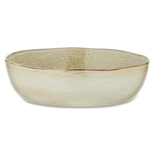 Amina Serving Bowl - Large, H8cm x W29cm x H29cm, Cream