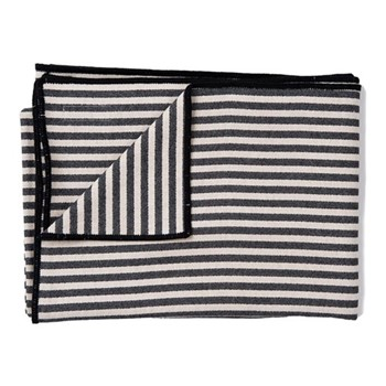 Harbour Stripe Throw, 140 x 180cm, black