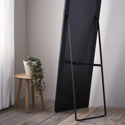 Chiltern Free-standing floor mirror, H170 x W79 x D2.5cm, Black