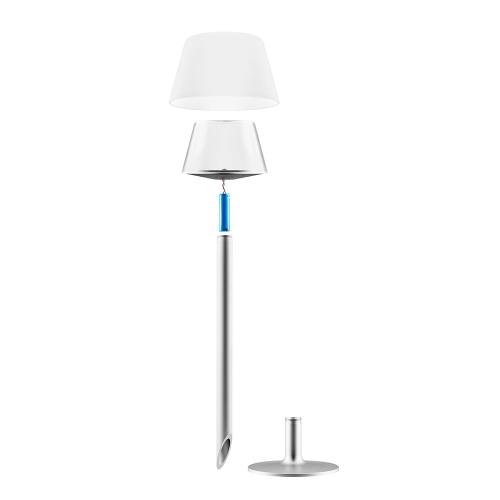 Sun Light Garden spike lamp, White/Silver