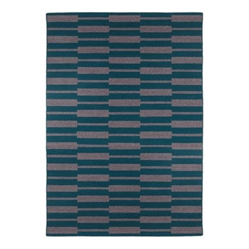 Spindle By Eleanor Pritchard Rug, W200 x L300 x D1cm, petrol
