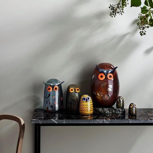 Birds by Toikka - Little Barn Owl Ornament, 4.5 x 6.5cm