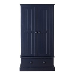 Charterhouse Wardrobe, H182 x W91 x D52cm, prussian blue