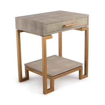 Flex Side table, W52 x H60 x D40cm, cream