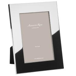 "Flat Border Photograph frame, 8 x 10"", Silver Plate With Velvet Back"