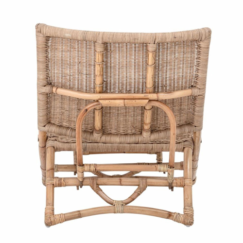 Baz Lounge chair, H74 x W68 x L66cm, Natural