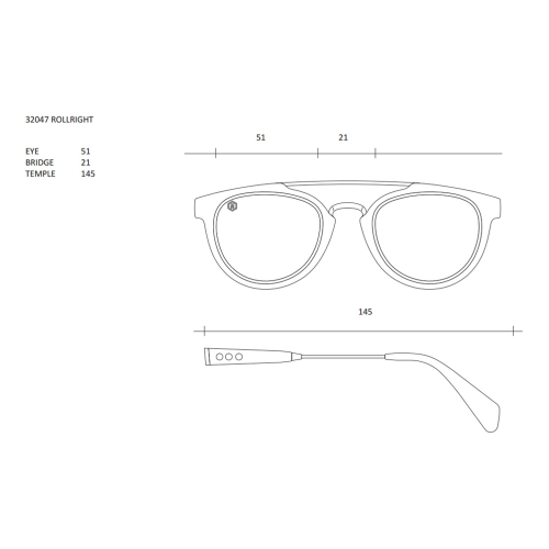 Rollright Sunglasses, W13cm, Black Frame