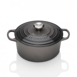 Signature Cast Iron Round casserole, 20cm - 2.4 litre, Flint