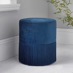 Round stool, L38 x W38 x D43cm, blue