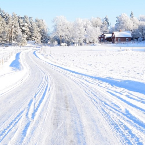 Swedish ice driving adventure and snow safari for two