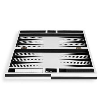 Lacquer backgammon Backgammon set, black & white