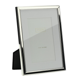 """Mounted Photograph frame, 7 x 9"""", silver plate"""