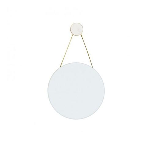 Round mirror, Dia40cm, White Marble
