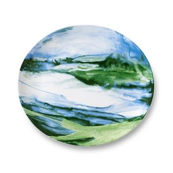 Jenny Green Platter, 34cm, green tone