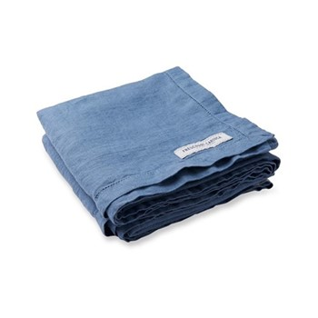 Linen beach towel, slate blue