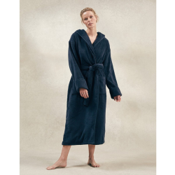 Hydrocotton Unisex hooded robe, large, Navy