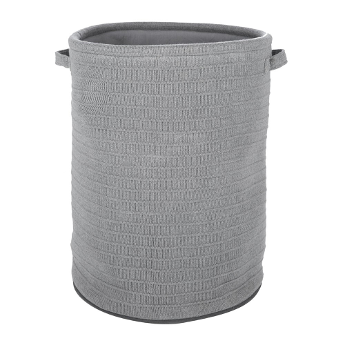 Knitted laundry/storage basket, 60 x 45cm, Grey