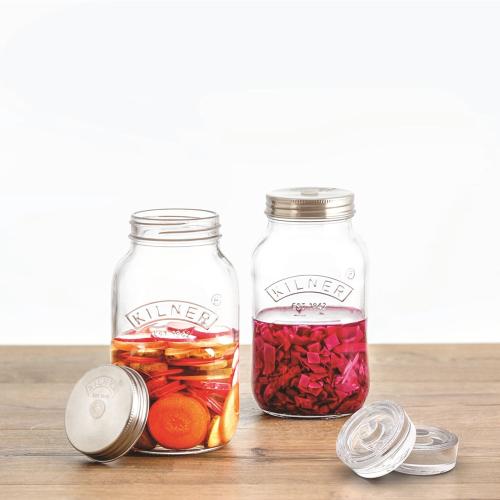 Fermenting Set of 2 jars, 1 litre