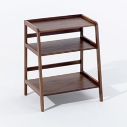 Agnes by Kay + Stemmer Side table, W50 x D33 x H43cm, walnut