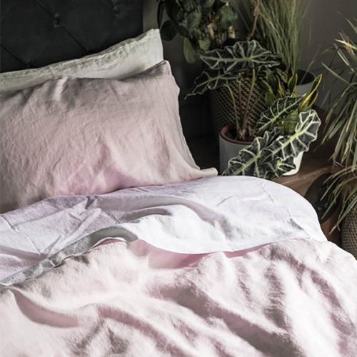 Pair of standard pillowcases, 50 x 75cm, Blush Pink