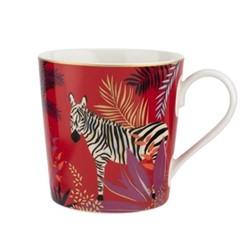 Tahiti - Zebra Mug, red