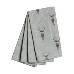 Highland Stag Set of 4 napkins, 41 x 41cm