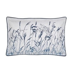 Blowing Grasses Oxford pillowcase, L48 x W74cm, blue