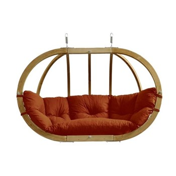 Globo Royal 2 seater hanging chair, 176 x 118 x 72cm, terracotta