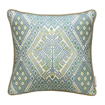 Tree of life Cushion, 50 x 50cm, blue green
