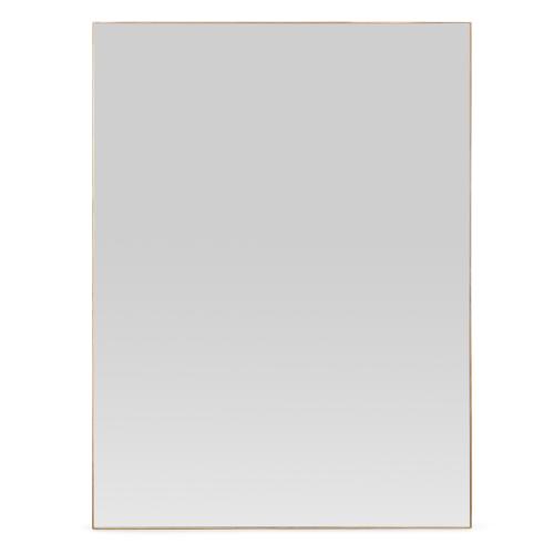Fine Wood Rectangular mirror, H100 x W75cm, Walnut