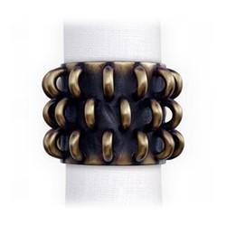 Tulum Set of 4 napkin rings, gold