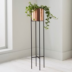 Large plant holder, L15 x W15 x D91cm, black