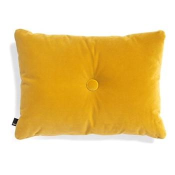 Dot Velvet cushion, W60 x H45cm, yellow