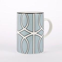 Loop Mug, 10.2 x 7.6cm, duck egg/white