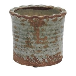 Broseley Small pot, H16 x Dia18cm, moss