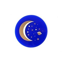 Luna Set of 4 coasters, W10.16 xD10.16cm, navy