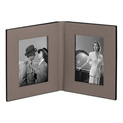 """Book Double photograph frame, 6 x 4"""", mud"""