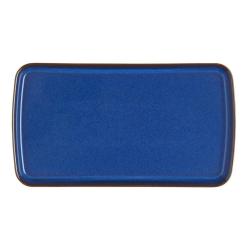 Imperial Blue Rectangular plate, 24 x 14.5cm