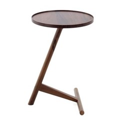 Calvo by Lee Kirkbride Side table, W42 x D42 x H58cm, walnut