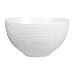 Blond Set of 4 small bowls, 30cl, white stripe