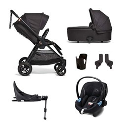 Flip XT3 6 piece pushchair and car seat set, black/copper