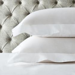 Single Row Cord - 200 Thread Count Egyptian Cotton Oxford pillowcase, 50 x 75cm, White