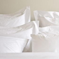 Classic - 400 Thread Count Single oxford pillowcase, W50 x L75cm, white sateen cotton
