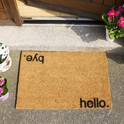 Hello, Bye Doormat , L60 x W40 x H1.5cm