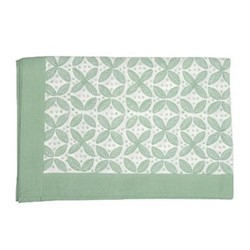 Berry Tablecloth, 150 x 300cm, green cotton