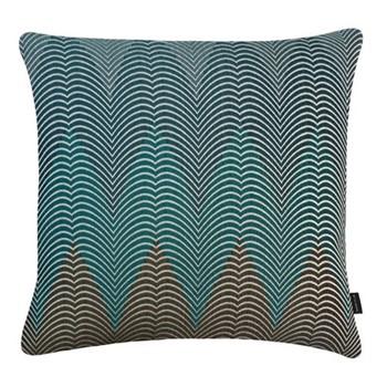 Mora Large square cushion, 56 x 56cm, turquoise