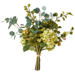 Faux mixed hydrangea bunch, Large - H66 x L56 x W56cm, Multi