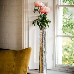 Tulip Large vase, H62.5 x W10 x D10cm, Silver
